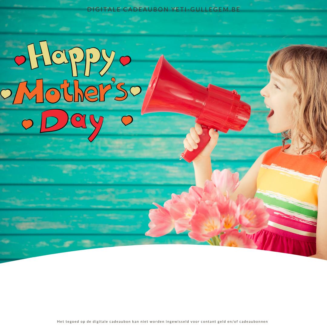 Digitale cadeaubon voor moederdag